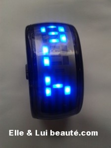 Led watch montre futuriste noir