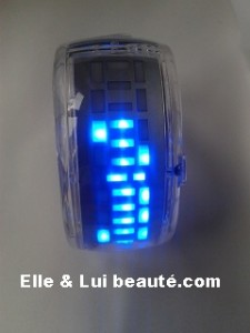 Watch led montre futuriste trensparent